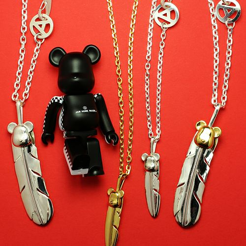 BE@RBRICK/ベアブリック NAKEDフェザーネックレス L -SILVER-