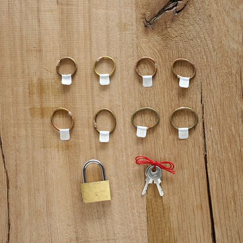 【JAM HOME MADE(ジャムホームメイド)】名もなき指輪キット-NAMELESS RING KIT -しかく- /ペアリング メンズ レディース ペア 人気 ブランド おすすめ 手作り オリジナル 記念日 ペアリングキット