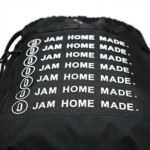 【JAM HOME MADE(ジャムホームメイド)】NEW ERA/ニューエラ JAM HOME MADE ロゴ キャップ&デイサック SET メンズ レディース ブラック ナイロン ナップサック 軽量 スイムバック 人気 コラボ