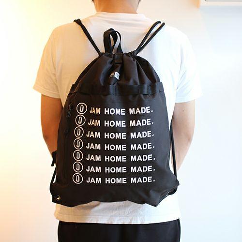 帽子 / NEW ERA/ニューエラ JAM HOME MADE ロゴ キャップ&デイサック SET メンズ レディース ブラック ナイロン ナップサック 軽量 スイムバック 人気 コラボ