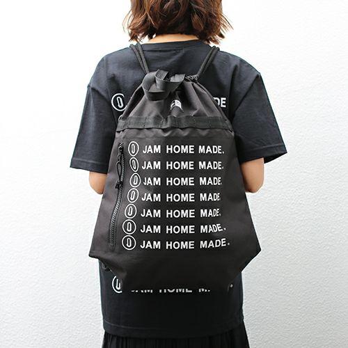 【JAM HOME MADE(ジャムホームメイド)】NEW ERA/ニューエラ 2-Wayデイサック -JAM HOME MADE ロゴ- / リュック メンズ レディースレディース ナップサック ブラック 人気 おすすめ ブランド シンプル ロゴ コラボ