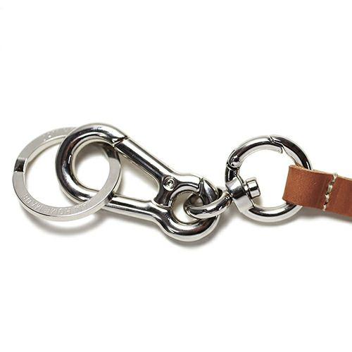 ネックレス / ドッグリーシュ=ヒューマンネックストラップ -BROWN- メンズ ネックレス レザー ブラウン 社員証 人気 ブランド おすすめ