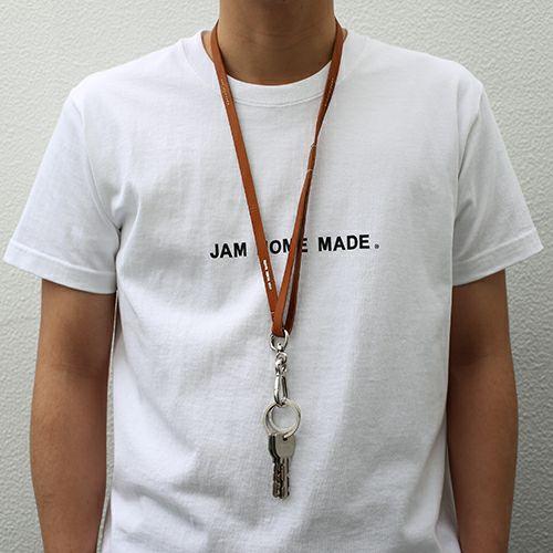 【JAM HOME MADE(ジャムホームメイド)】ドッグリーシュ=ヒューマンネックストラップ -BROWN- メンズ ネックレス レザー ブラウン 社員証 人気 ブランド おすすめ