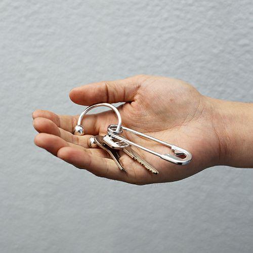 小物 / JAM アイレット キーホルダー メンズ シルバー ブランド キーホ シンプル ポケット 車 ギフト プレゼント