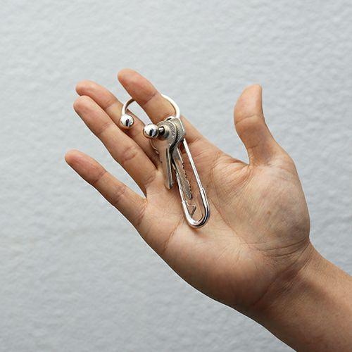 【JAM HOME MADE(ジャムホームメイド)】JAM アイレット キーホルダー メンズ シルバー ブランド キーホ シンプル ポケット 車 ギフト プレゼント