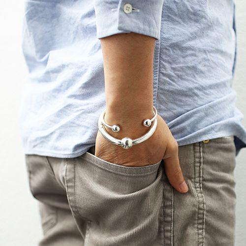 【JAM HOME MADE(ジャムホームメイド)】JAM アイレット バングル&キーホルダー メンズ シルバー 人気 おすすめ ブランド ブレスレット シンプル ギフトプレゼント キーホルダー