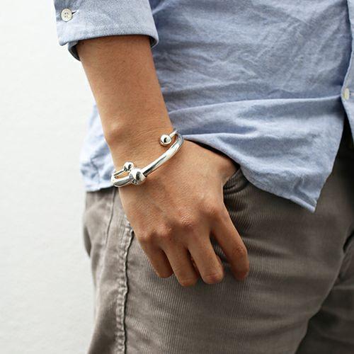 【JAM HOME MADE(ジャムホームメイド)】JAM アイレット ビックブレスレット メンズ シルバー 925 ボリューム 太め ブランド 人気 ごつめ