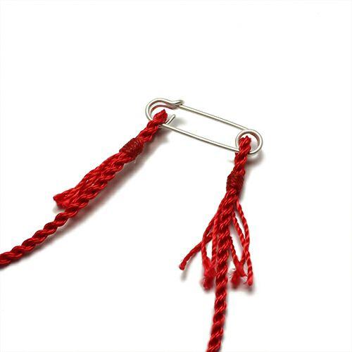 【JAM HOME MADE(ジャムホームメイド)】ホームメイドJAM ネックレス - ストロベリー - メンズ レディース シルバー 925 編込み 人気 おすすめ ブランドペア ミサンガ ブレスレット 赤
