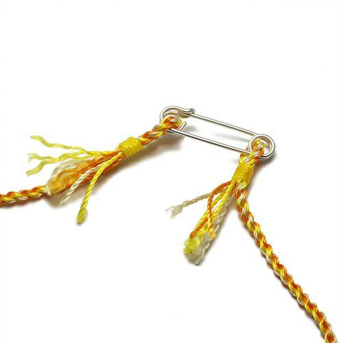 【JAM HOME MADE(ジャムホームメイド)】ホームメイドJAM ネックレス -マーマレード- メンズ レディース シルバー 925 編込み 人気 おすすめ ブランドペア ミサンガ ブレスレット オレンジ 黄色