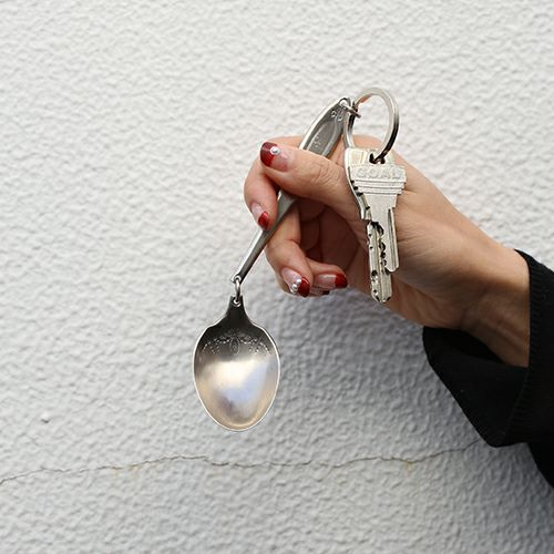 小物 / ホームメイドJAM キーホルダー -スプーン- メンズ シルバー キーホルダー ネックレス レザー 手品 マジック