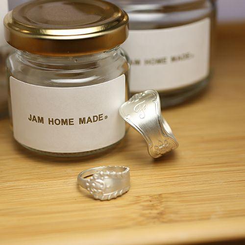 指輪 / ホームメイドJAM リング M メンズ シルバー 925 人気 おすすめ ブランド スプーン シンプル 太め 幅