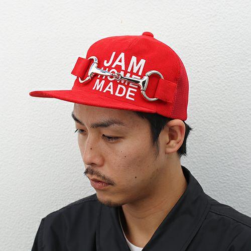 【ジャムホームメイド(JAMHOMEMADE)】CA4LA/カシラ テンデンシーメッシュキャップ - レッド