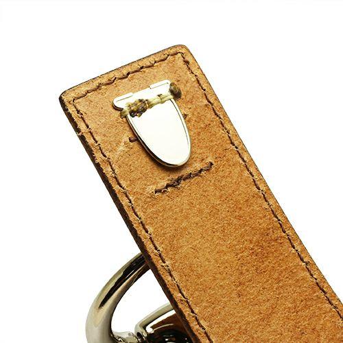 【JAM HOME MADE(ジャムホームメイド)】ビットレザーブレスレット L -BROWN- メンズ 牛革 ホースビット 人気 ブランド シンプル おすすめ ギフト プレゼント