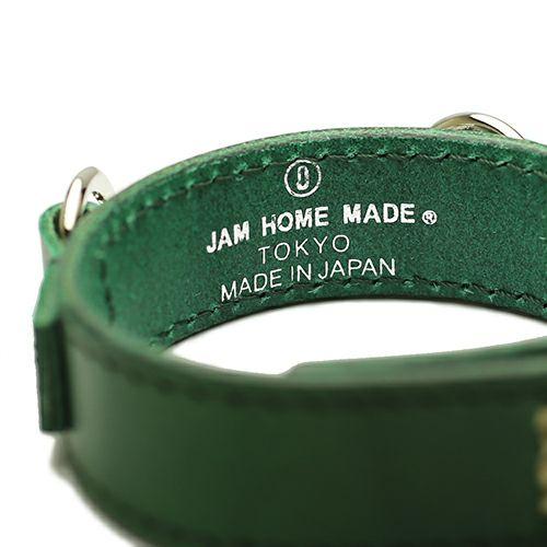【JAM HOME MADE(ジャムホームメイド)】ビットレザーブレスレット M -GREEN- メンズ 牛革 ホースビット 人気 ブランド シンプル おすすめ ギフト プレゼント
