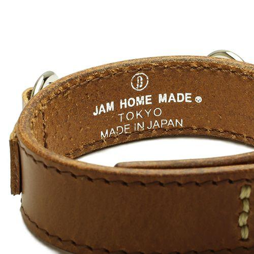 【JAM HOME MADE(ジャムホームメイド)】ビットレザーブレスレット M -BROWN- メンズ 牛革 ホースビット 人気 ブランド シンプル おすすめ ギフト プレゼント