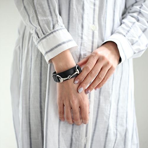 ブレスレット / ビットレザーブレスレット M -BLACK- メンズ 牛革 ホースビット 人気 ブランド シンプル おすすめ ギフト プレゼント