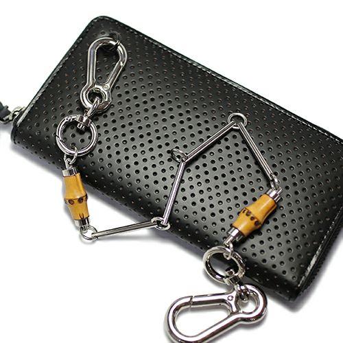 財布キーチェーン / JAMBOO エンプティーウォレットチェーン S メンズ シルバー おすすめ 人気 ブランド 竹 バンブー キーホルダー 人気 安い 財布 チェーン