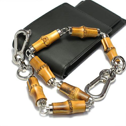 財布キーチェーン / JAMBOO フルウォレットチェーン M メンズ シルバー おすすめ 人気 ブランド 竹 バンブー キーホルダー 人気 安い 財布 チェーン