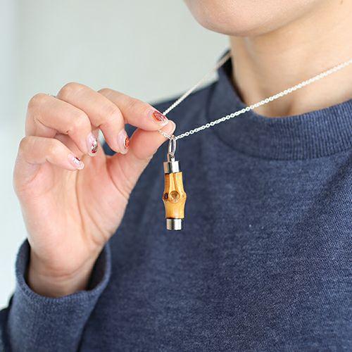 ネックレス / JAMBOO ネックレス S メンズ レディース シルバー 925 竹製 ペア 人気 おすすめ ブランド おもしろ 珍しい