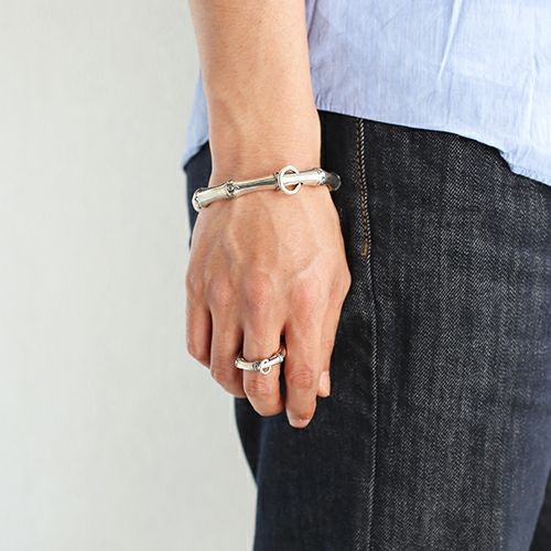 指輪 /  JAMBOO リング M メンズ シルバー 925 人気 おすすめ ブランド バンブー 竹 アクセサリー ペア ごつい