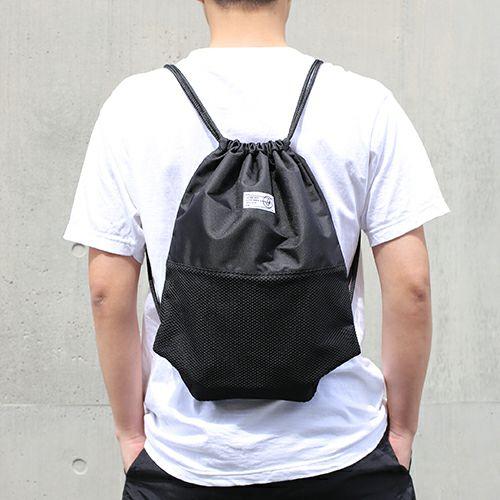 【JAM HOME MADE(ジャムホームメイド)】nonmetal ナップサック リュック メンズ レディース ユニセックス リュック バックパック シンプル ブラック 人気 おすすめ ブランド