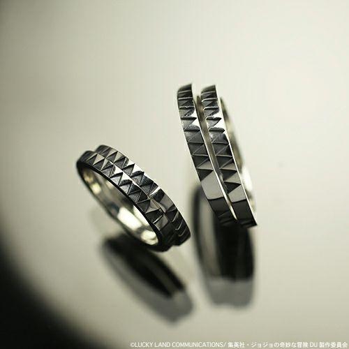 指輪/リング 『ジョジョの奇妙な冒険』 JOJO 空条承太郎ダブルベルトリング M