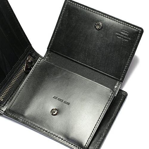 二つ折り財布 / 9月 誕生石 サファイア ブライドルレザーミディアムウォレット メンズ ユニセックス ブランド 人気 使い始め レザー/革 イギリス ブライドル ブラック お手入れ シンプル プレゼント ギフト 誕生日 ウォレットチェーン