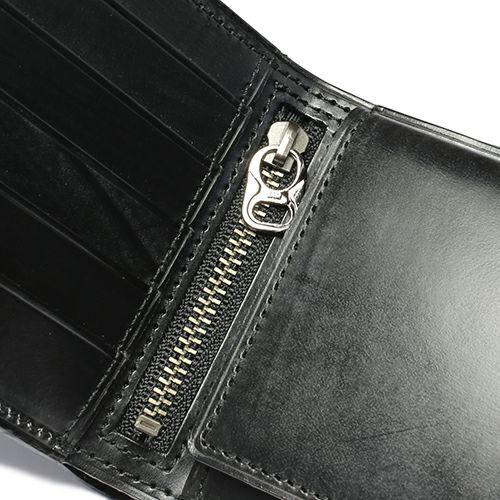 二つ折り財布 / 6月 誕生石 ムーンストーン ブライドルレザーミディアムウォレット メンズ ユニセックス ブランド 人気 使い始め レザー/革 イギリス ブライドル ブラック お手入れ シンプル プレゼント ギフト 誕生日 ウォレットチェーン