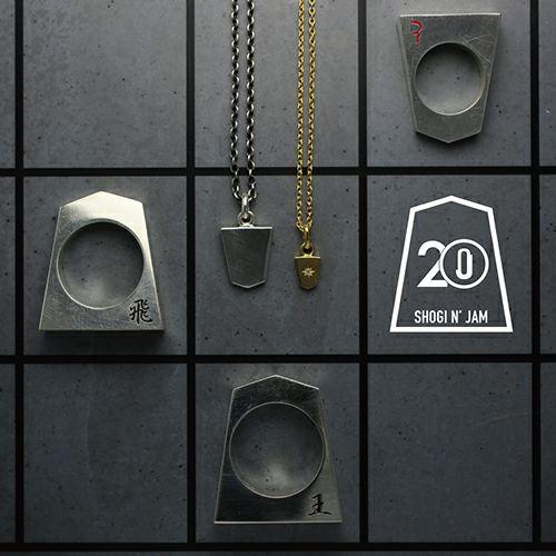 【JAM HOME MADE(ジャムホームメイド)】SHOGI N JAM ネックレス / ペアネックレス メンズ レディース ゴールド シルバー 925 ダイヤモンド チェーン 将棋 コマ アクセサリー 人気 おすすめ ブランド ペア