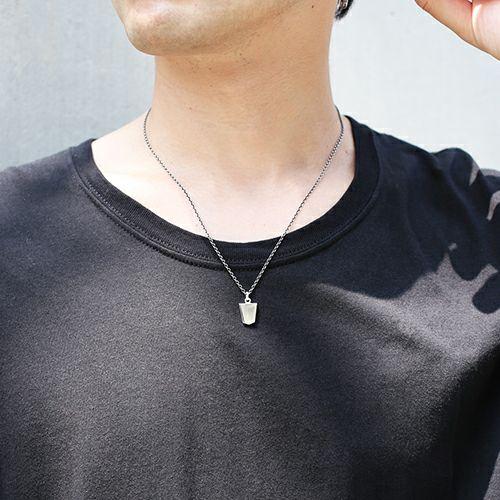 【JAM HOME MADE(ジャムホームメイド)】SHOGI N JAM ネックレス M メンズ シルバー 925 チェーン 将棋 コマ アクセサリー 人気 おすすめ ブランド ペア