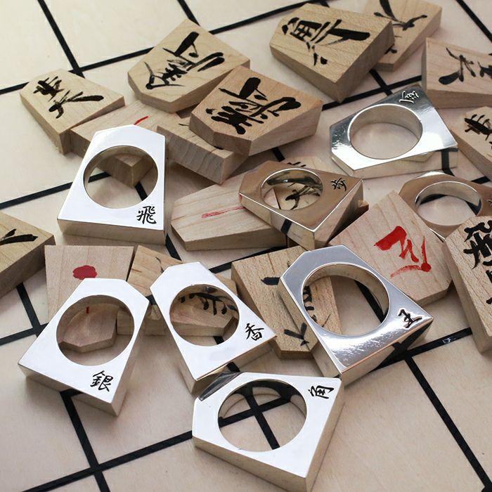 【JAM HOME MADE(ジャムホームメイド)】SHOGI N JAM リング M 銀将 / 指輪 メンズ シルバー 925 ハンドメイド 将棋 コマ アクセサリー 人気 おすすめ ブランド