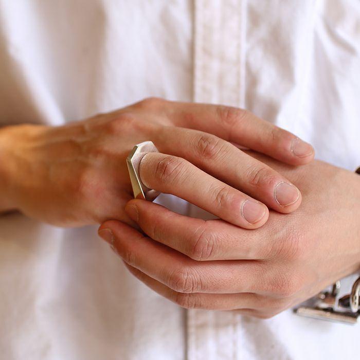 【JAM HOME MADE(ジャムホームメイド)】SHOGI N JAM リング M 桂馬 / 指輪 メンズ シルバー 925 ハンドメイド 将棋 コマ アクセサリー 人気 おすすめ ブランド