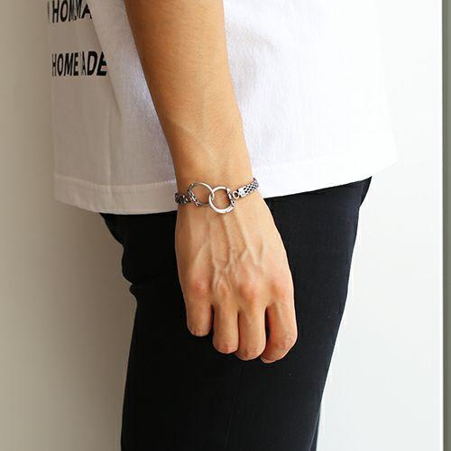 ネックレス / DAD 9WAY メッシュネックレス -RHODIUM- メンズ シルバー フック ブレスレット アンクレット チョーカー ペア キーホルダー ウォレットチェーン 財布 人気 ブランド おすすめ