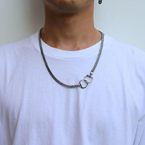ネックレス / DAD 2WAY メッシュネックレス -SILVER- メンズ シルバー フック ブレスレット ペア ウォレットチェーン 財布 人気 ブランド おすすめ