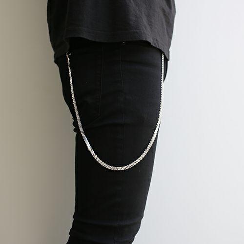 ネックレス / DAD 2WAY メッシュネックレス -RHODIUM- メンズ シルバー フック ブレスレット ペア ウォレットチェーン 財布 人気 ブランド おすすめ