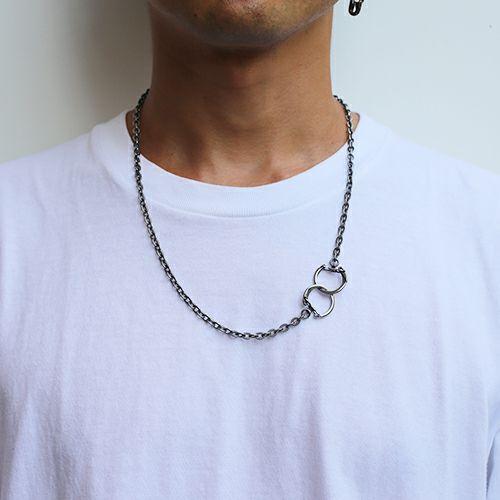 【JAM HOME MADE(ジャムホームメイド)】DAD 2WAY メッシュネックレス -RHODIUM- メンズ シルバー フック ブレスレット ペア ウォレットチェーン 財布 人気 ブランド おすすめ