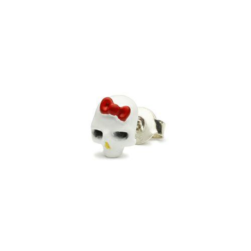 ピアス / ハローキティ/Hello Kitty スカルフェイスピアス -FULL COLOR- メンズ レディース シルバー 925 おすすめ ブランド 人気 コラボ サンリオ アクセサリー ドクロ ガイコツ