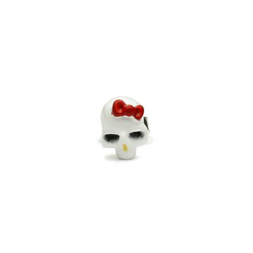 【JAM HOME MADE(ジャムホームメイド)】ハローキティ/Hello Kitty スカルフェイスピアス -FULL COLOR- メンズ レディース シルバー 925 おすすめ ブランド 人気 コラボ サンリオ アクセサリー ドクロ ガイコツ