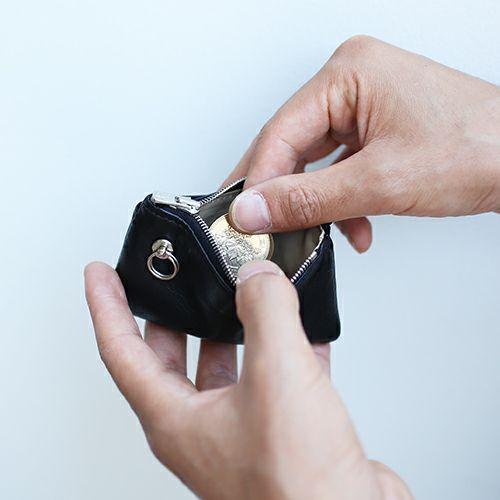 ミニウォレット / DADミニウォレット メンズ レディース レザー ブラック ラム 最高級 スペイン 人気 ブランド おすすめ ギフト プレゼント 父の日 昭和 薄い 手触り