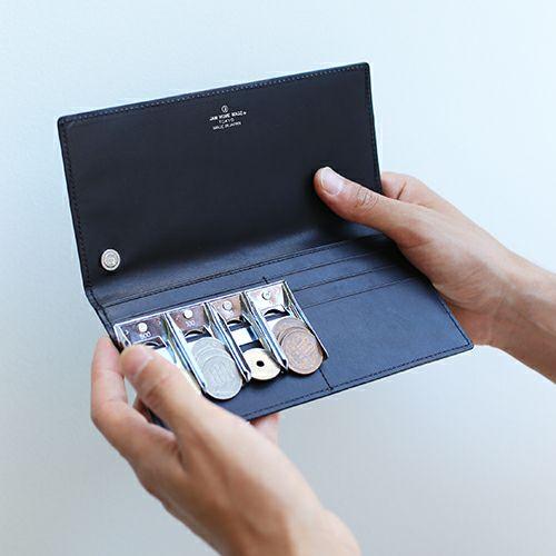 【JAM HOME MADE(ジャムホームメイド)】スリムロングウォレット / 長財布 メンズ レザー ブラック 人気 ブランド 薄い 誕生日 プレゼント ギフト 父の日 スーツ 内ポケット