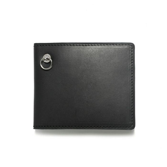 二つ折り財布 / スリムミディアムウォレット メンズ レザー ブラック 人気 ブランド ギフト 薄い 誕生日 プレゼント 父の日 スーツ 内ポケット