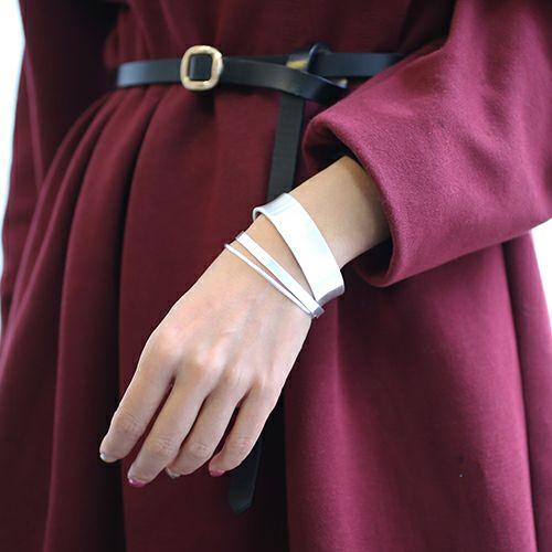 ブレスレット / はじめてのバングル S (3点セット) レディース ペア ブランド シルバー 細め 太め 人気 付け方 平打ち 重ね付 ごつめ 安い おすすめ 服を着るならこんなふうに