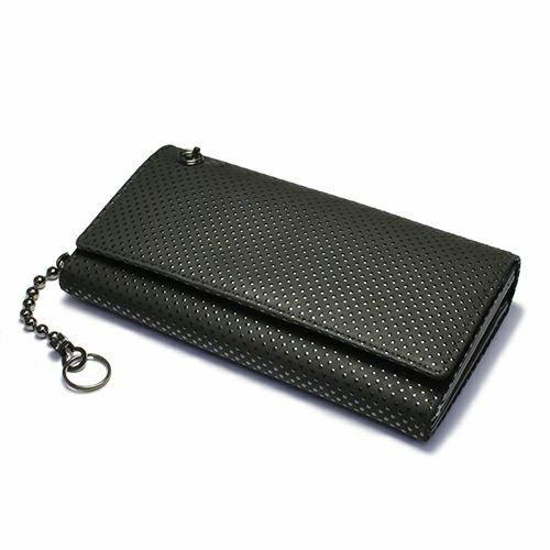 2月 誕生石 印傳屋(印伝屋) ロングウォレット・束入れ -PUNCHING- / 長財布