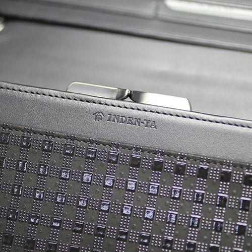 【ジャムホームメイド(JAMHOMEMADE)】印傳 - 印伝屋 4月 誕生石  長財布 束入れ がま口財布 チェック柄