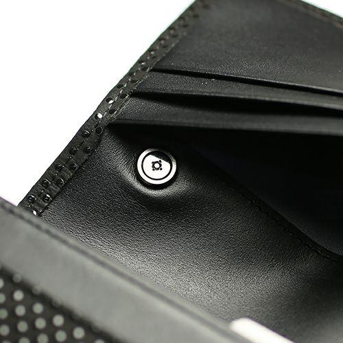 【ジャムホームメイド(JAMHOMEMADE)】印傳 - 印伝屋 3月 誕生石  長財布 束入れ がま口財布 チェック柄