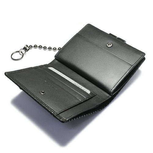 12月 誕生石 印傳屋(印伝屋) ミディアムウォレット・がま札財布 -PUNCHING- / 二つ折り財布