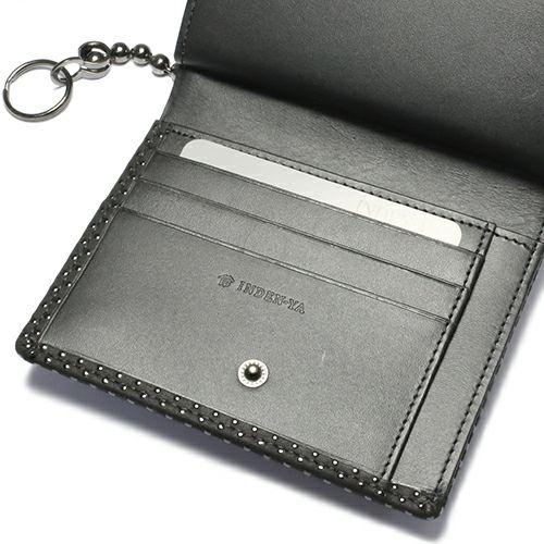 7月 誕生石 印傳屋(印伝屋) ミディアムウォレット・がま札財布 -PUNCHING- / 二つ折り財布