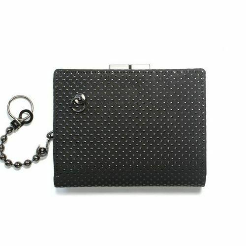6月 誕生石 印傳屋(印伝屋) ミディアムウォレット・がま札財布 -PUNCHING- / 二つ折り財布