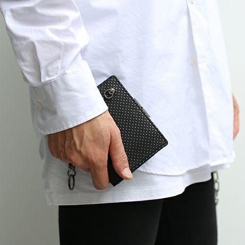 印傳屋(印伝屋) ミディアムウォレット・がま札財布 -PUNCHING- / 二つ折り財布 / 財布・革財布