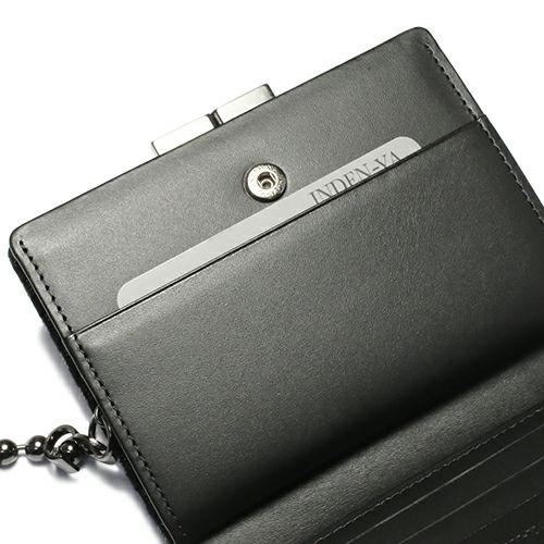 【ジャムホームメイド(JAMHOMEMADE)】印傳 - 印伝屋 11月 誕生石  二つ折り財布・がま札財布 チェック柄 / ミディアムウォレット